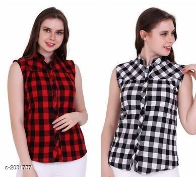 Fashion Cotton Women's Casual Tops( Pack Of 2)