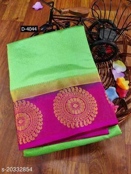 Kanjivaram Silk Rich Pallu Saree for Wedding & Party wear With Brocode Blouse.