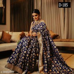 Banarasi Silk Rich Pallu Saree for Wedding & Party wear With Brocode Blouse.