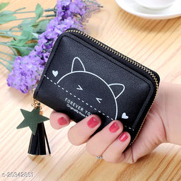 Attractive Women's Black Wallet