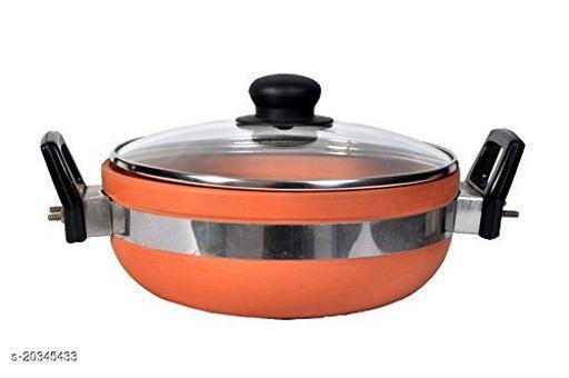 Vaghbhatt Clay kadai with Lid/Clay pots for Cooking/Organic Mitti Kadhai, 2000 ml, Brown Clay kadaiClay kadai/Clay pots for Cooking/Organic Mitti Kadhai, 2 Litre, Brown Clay kadai