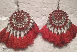 Elegant Oxidized Metal Earrings