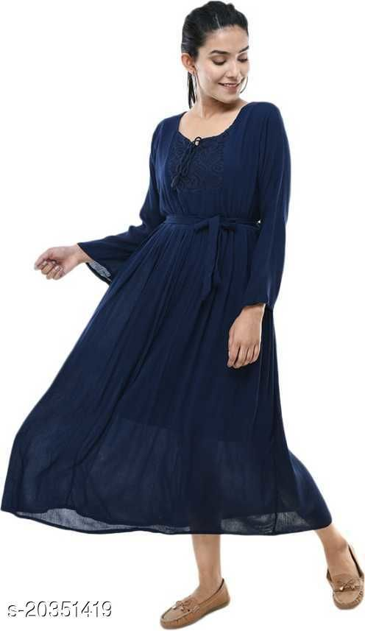 Allen Ville Neavy Blue Anarkali Dress For Women