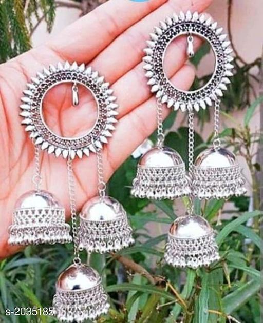 Trendy Oxidized Metal Women's Earring