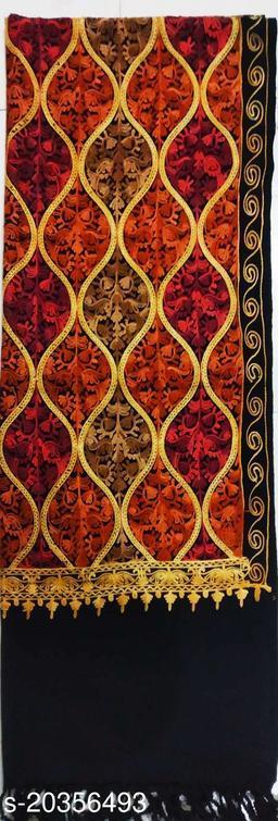 woolen matka design stole for men women (Black) colour