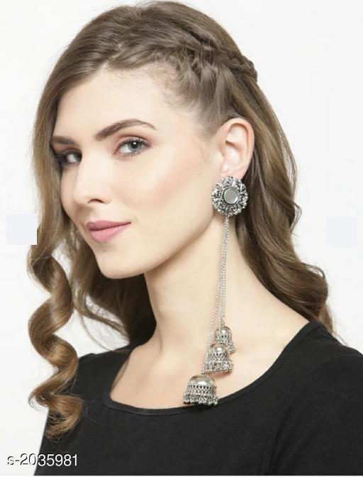 Elite Elegant Oxidized Metal Earring