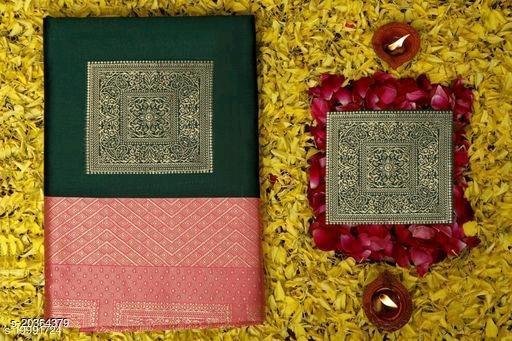 Kanjivaram Banarasi Jacquard Silk Saree With Blouse Piece