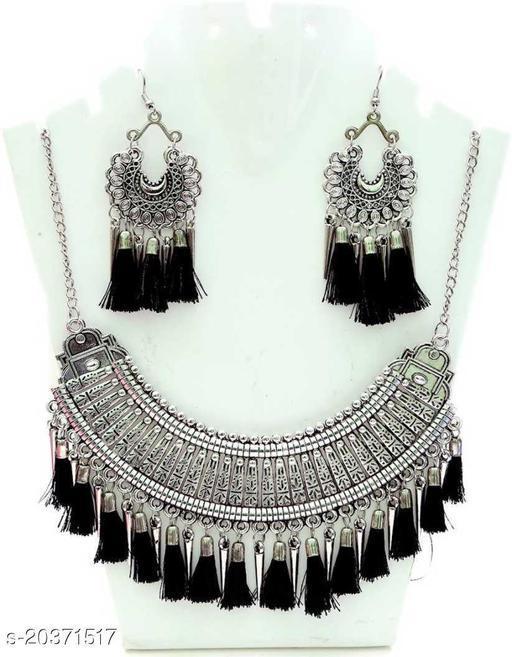 Trendy Oxidised Silver Jewellery Sets