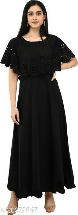 NOBEY Women Gown Black Dress