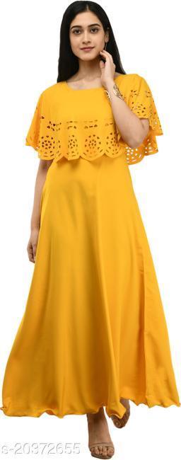 NOBEY Women Gown Yellow Dress