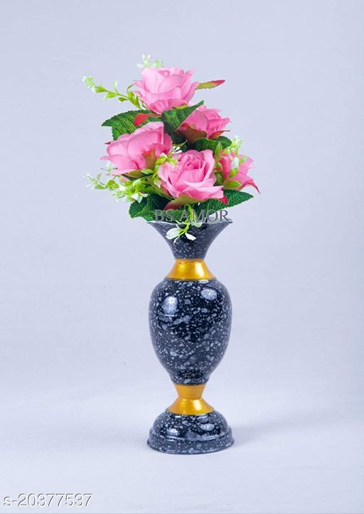 BS AMOR Flower Vase House Decorating Items for Bedroom Hall Dining Room Bouquet Office Decorative Vases Pack of 1…