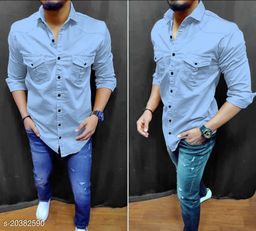 Double Pocket Casual Shirts For Men