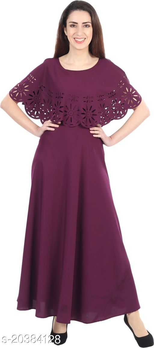 NOBEY  Women Gown WINE Dress