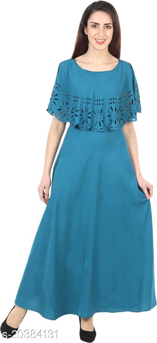 NOBEY  Women Gown SKY BLUE Dress