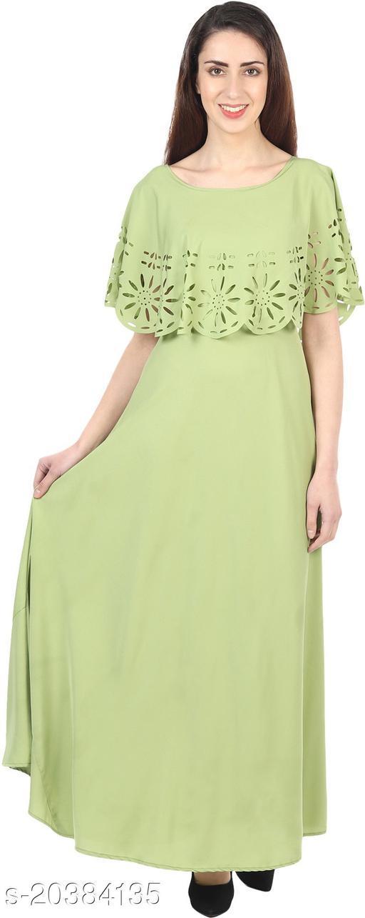 NOBEY  Women Gown LIGHT GREEN Dress