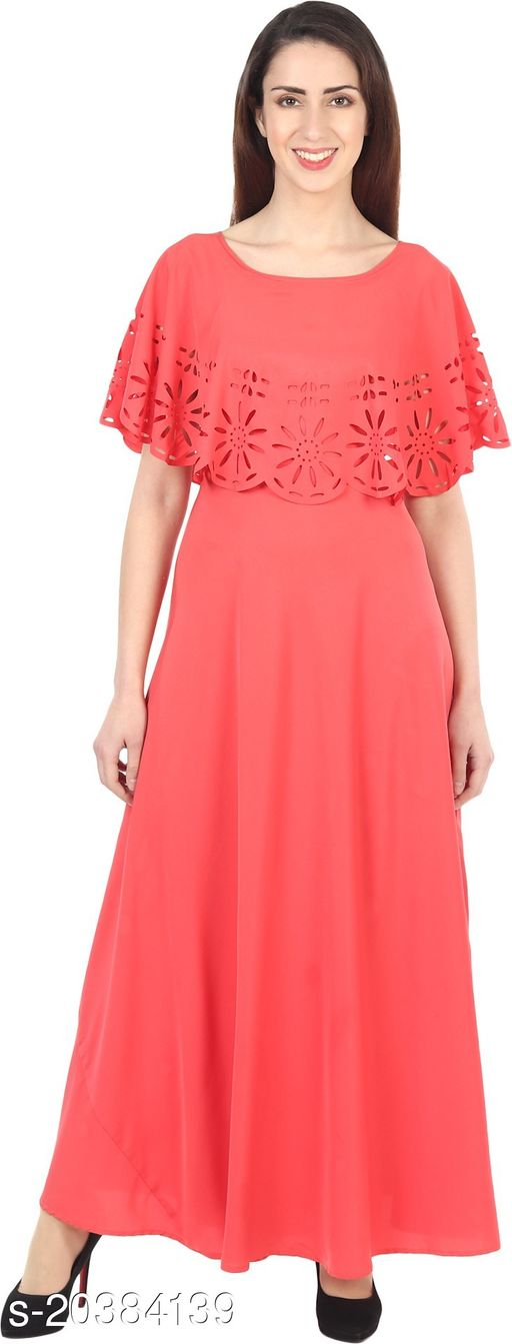 NOBEY  Women Gown Orange Dress