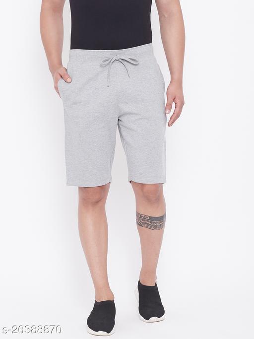Harbor n Bay's Men Grey Melange shorts