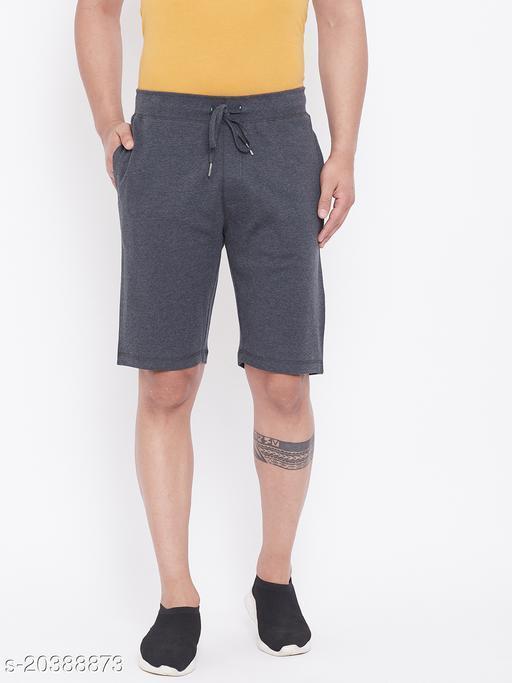 Harbor n Bay's Men Charcoal Melange shorts