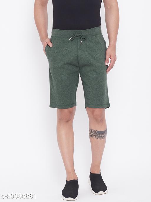 Harbor n Bay's Men Olive Melange shorts