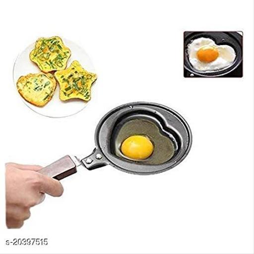 Chin Chin Mini Iron Non-Stick Frying Pan for Pancake, Egg, Breakfast, Omelette (Pack of 1 Black )