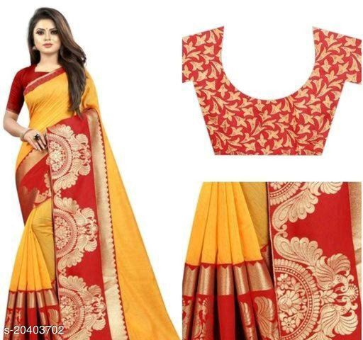 trendy chanderi cotton sareee with heavy lace border