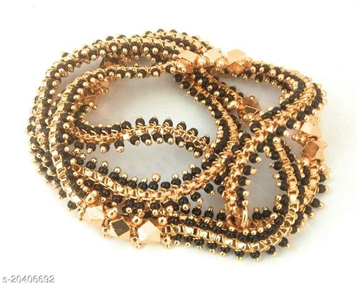 VR Fashion HUB Alloy Gold Plated Moti Chain For Women