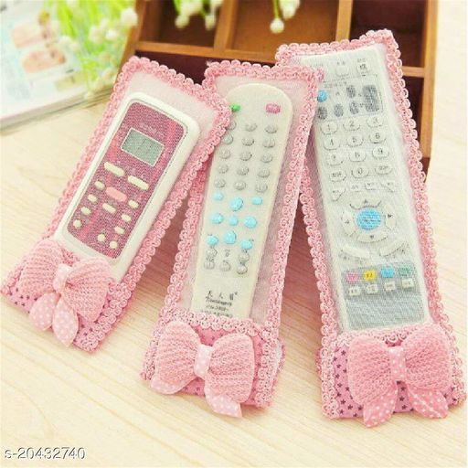 Attractive Remote Cover/TV, Air Conditioner, D2H, DTH Remote Control Dust Cover (Pack of 3) Multicolour
