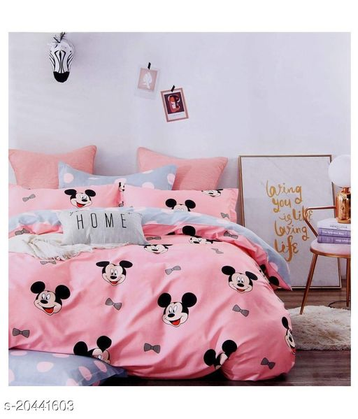 BEAUTIFUL COMFY GLACE COTTON  100 X 90 DOUBLE BEDSHEET WITH 2 PILLOW COVER.