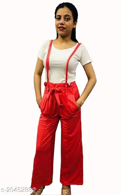Trendy Cotton Blend Women Jumpsuits