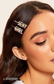 gold plated hair pins set of 2