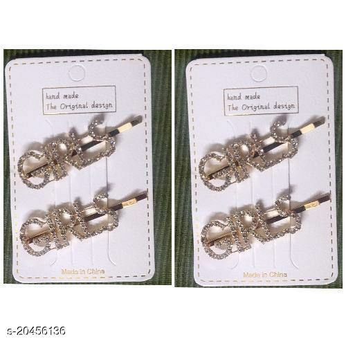 gold plated hair pins set of 4
