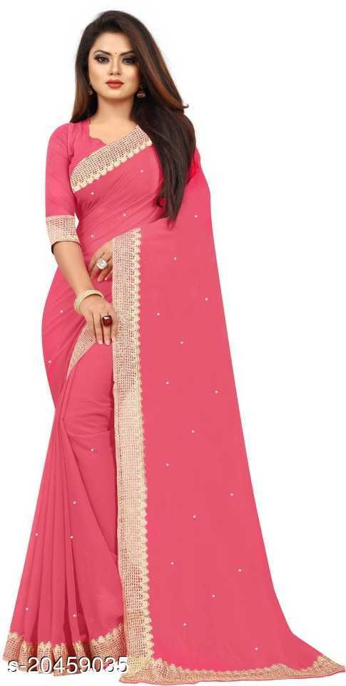 Womens Sarees Georgette  Lace,Stone
