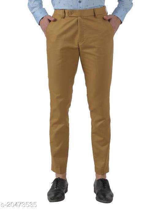 Inspire Khaki Slim Fit Formal Trouser