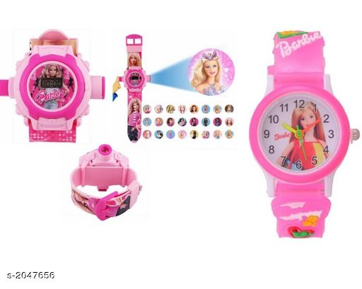 Trendy Rubber Digital Kid's Watches ( Pack Of 2 )