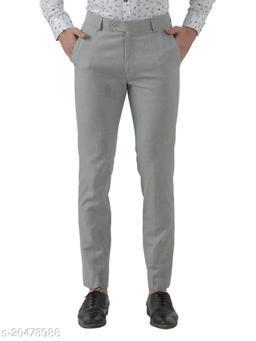 Inspire Light Grey Slim Fit Formal Trouser