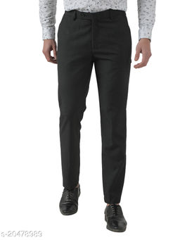 Inspire Worsted Grey Slim Fit Formal Trouser