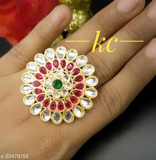 Kundan Adjustable Finger Ring