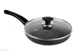 ETHICAL MASTREO SERIES INDUCTION FRYING PAN TAWA / MULTI PURPOSE FRYING PAN WITH GLASS LID
