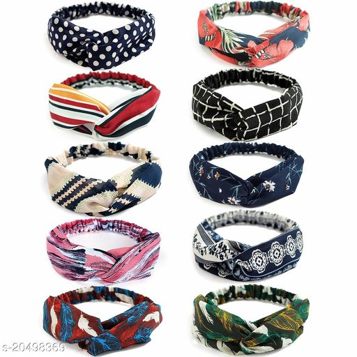 Attractive Women's   Multicolor Fabric Hair Bands