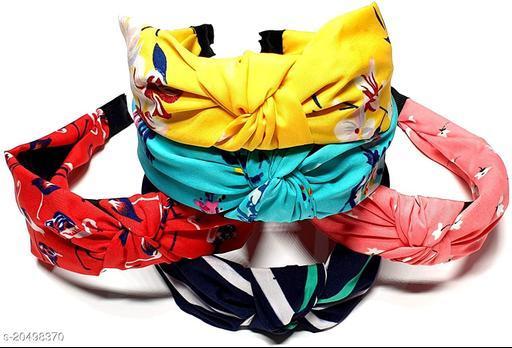 Charming Elegant   Multicolor Fabric Hair Band