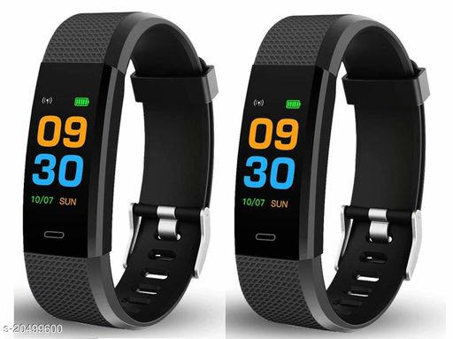 ID115 Bluetooth Smart Health Monitoring Fitness Wrist Band for Men/Women with Heart Rate Monitor, Activity Tracker