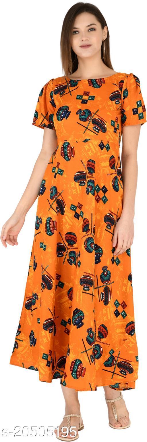 NOBEY Women Maxi Orange Dress