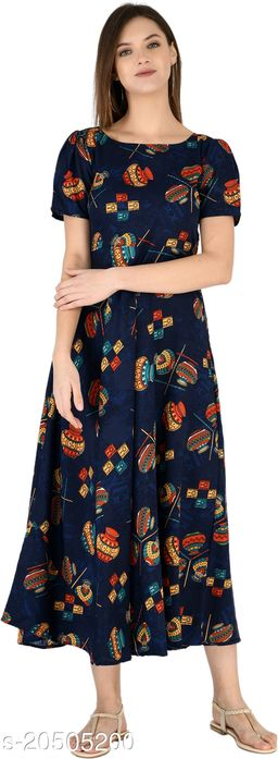 NOBEY Women Maxi Blue Dress