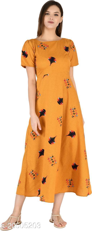 NOBEY Women Maxi Yellow Dress
