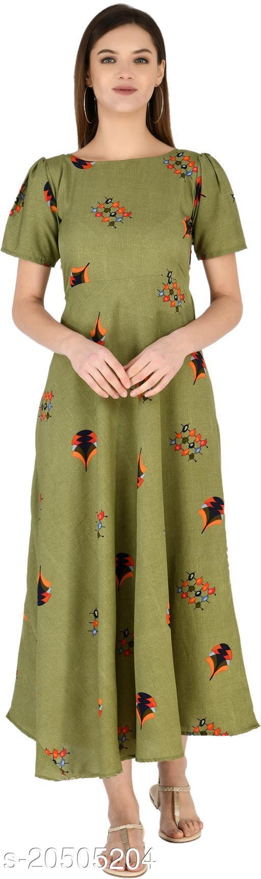 NOBEY Women Maxi Green Dress
