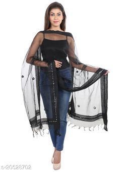 DIAMO Chandheri Tissue Fabric Dupatta