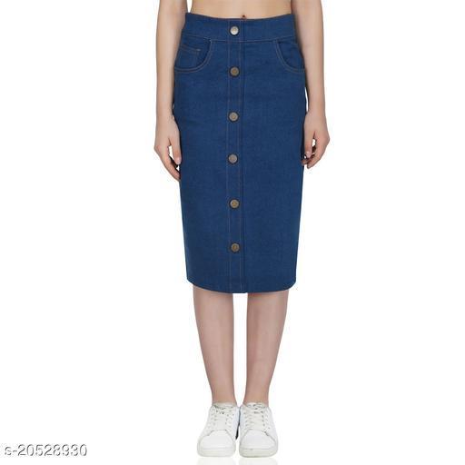 PlanningArt Denim Pencil Skirt