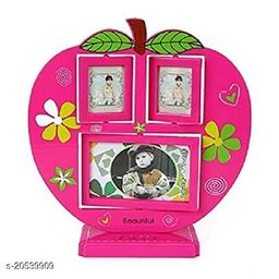 Apple-Shaped Personalized Collage Photo Frame (Apple & Piano Frame)