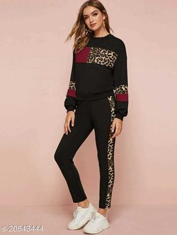 Women Track Suit_ladies Night Suit_active Wear Track Pant And T Shirt_stylish Top Bottom Set