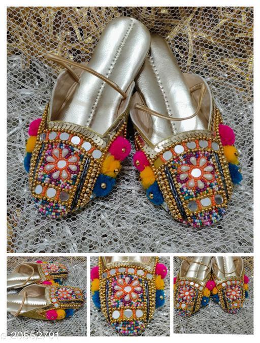 Stylish Girl's Textile Multicolor Sandals